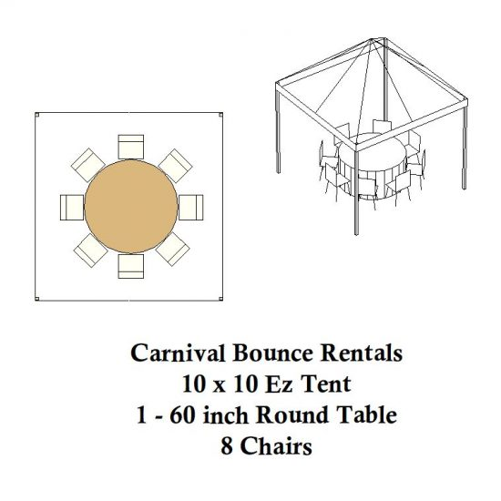 10 x 10 ez up pop up round tables tent party rentals michigan