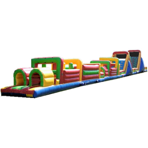 125 foot obstacle rockwall challenge inflatable bounce obstacle course party rental michigan