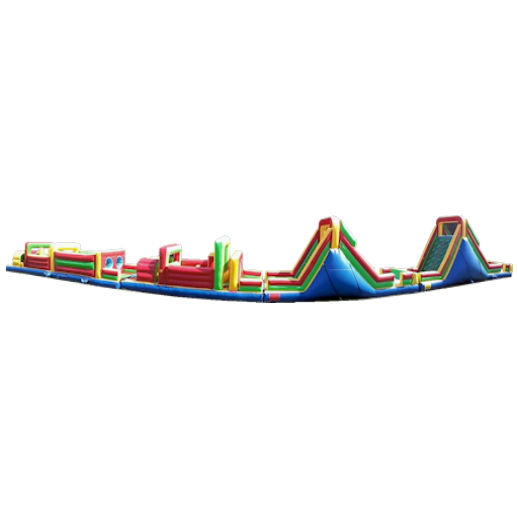 125 foot obstacle rockwall challenge inflatable obstacle course Party rental michigan