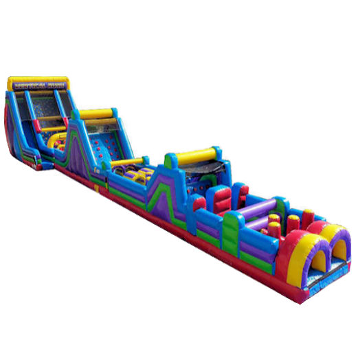 130ft Extreme Vertical Rush Obstacle Course Inflatable Party Rental in Michigan