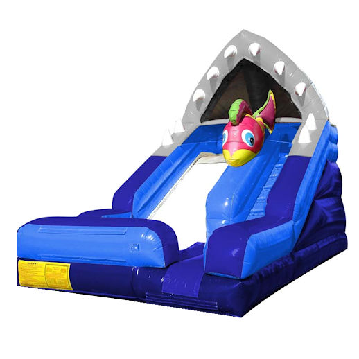 15' Shark Escape Inflatable Water slide rental michigan