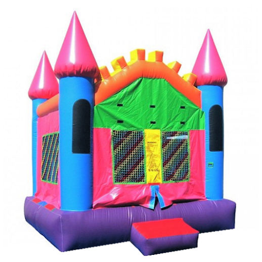 15 X 15 Pink Castle inflatable bounce house moonwalk jumper moonbounce party Michigan Bounce House Rental