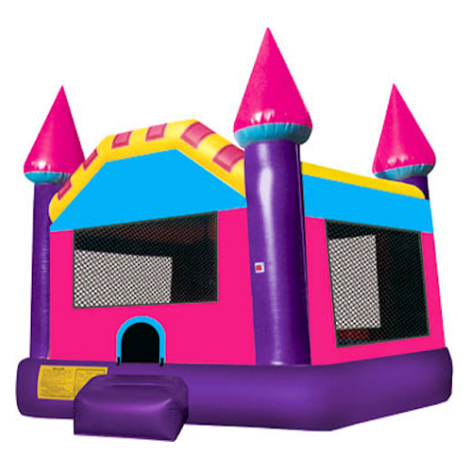 15 X 15 Pink Dream Castle inflatable bounce house moonwalk jumper moonbounce party Michigan Bounce House Rental