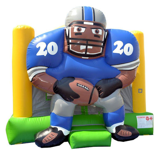 15 x 15 Football Player inflatable bounce house moonwalk jumper moonbounce party rental michigan