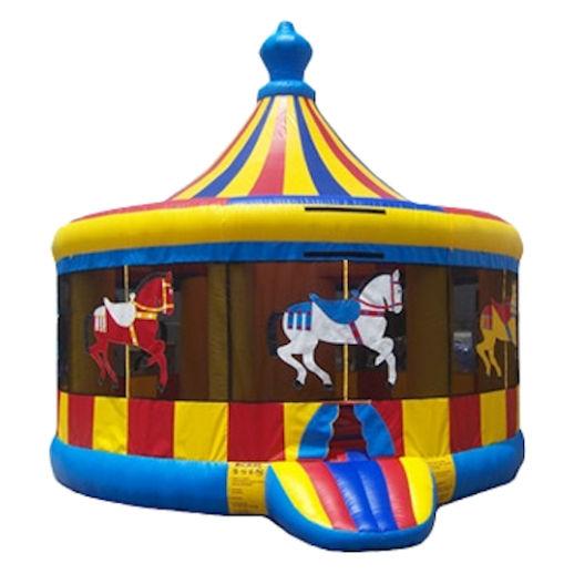 16 foot carousel bounce house moonwalk party rental michigan