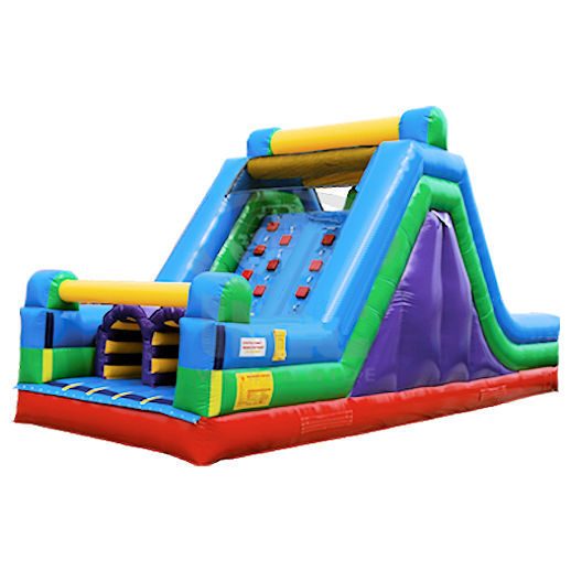 16 foot rock climb slide inflatable slide obstacle course rental michigan