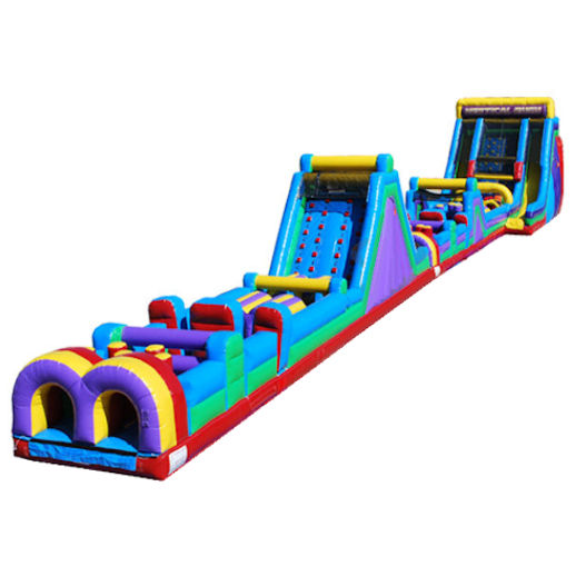 160ft Extreme Vertical Rush Obstacle Course Inflatable Party Rental in Michigan