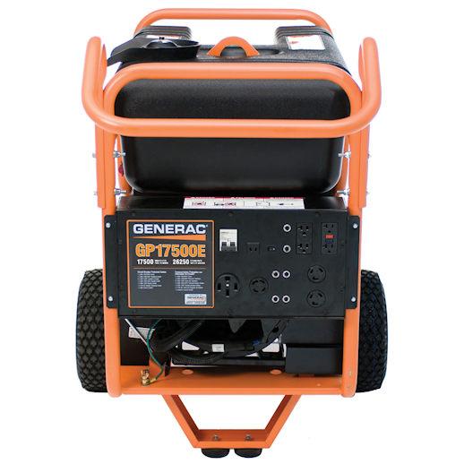 17500 watt generator control panel electric start party rental michigan
