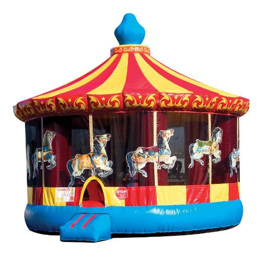 20' Carousel Moonwalk party rentals in michigan