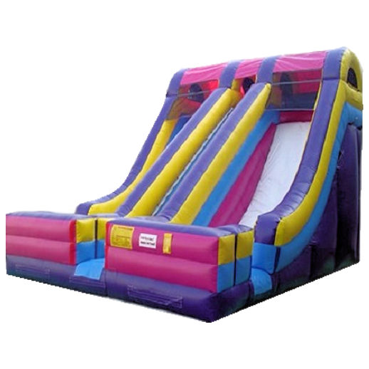 20 foot Accelerator inflatable dual lane slide bounce house moonwalk party rental michigan