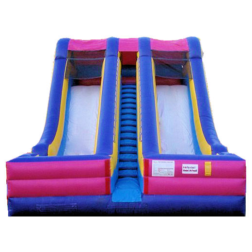 20 ft Accelerator inflatable dual lane slide bounce house moonwalk party rental michigan