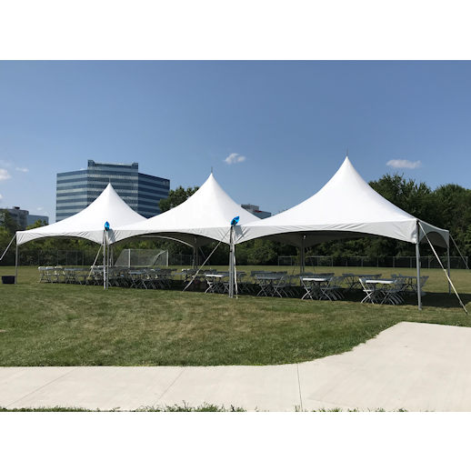 20 x 60 frame tent rectagle tables chairs party rentals michigan