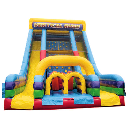 22 foot Vertical Rush Rock Climb Double Slide Inflatable Obstacle Course Rental Michigan