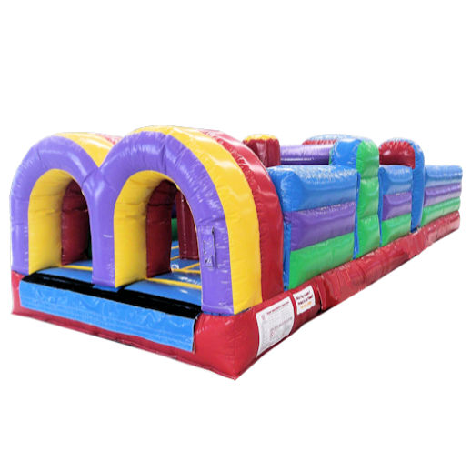 30 Foot 5 Element Inflatable Obstacle Course Party Rental Michigan