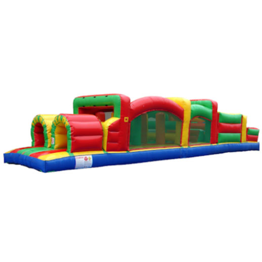 38 foot obstacle game inflatable bounce house rental michigan