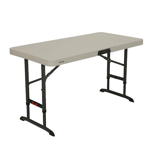 4 foot plastic folding table party rental in michigan