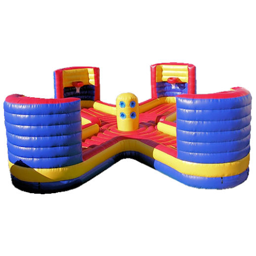 4 man tug n dunk Xtreme bungee basketball inflatable equalizer interactive game party rentals michigan
