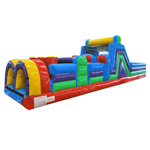 40 Foot 7 Element Inflatable Obstacle Course Party Rental Michigan