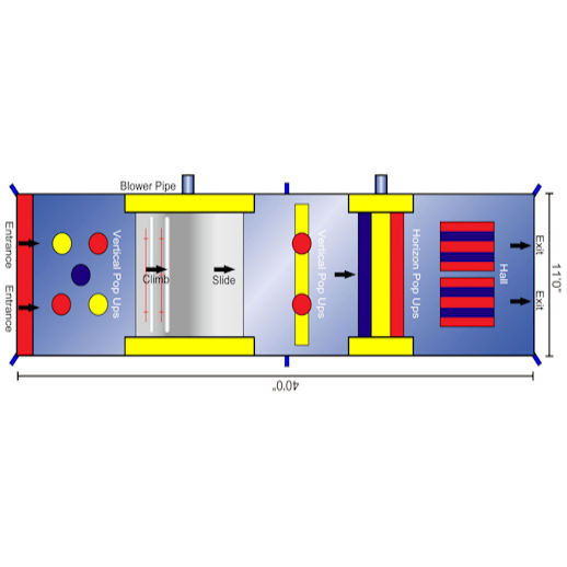 40 foot backyard inflatable obstacle course schematics rental michigan