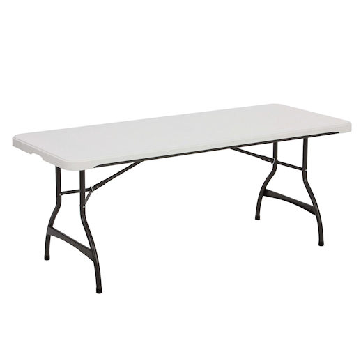 6 foot plastic banquet folding table party rental in michigan