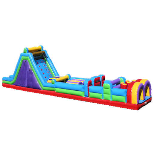 60 Foot 5 Element Rock Climb Obstacle Course Inflatable Party Rental Michigan