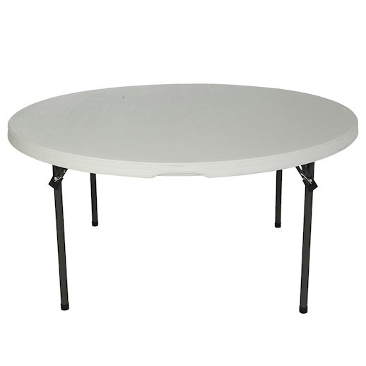 60 inch round plastic folding table party rental in michigan