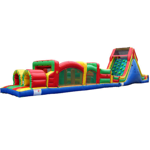 70 foot obstacle rockwall challenge inflatable obstacle course Party rental michigan