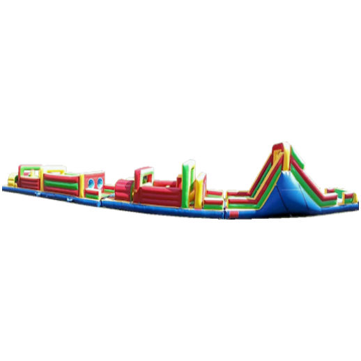 95 foot obstacle rockwall challenge inflatable obstacle course Party rental michigan
