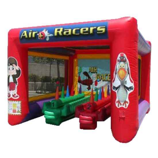 Air racer Interactive inflatable bounce house moonwalk party rental michigan