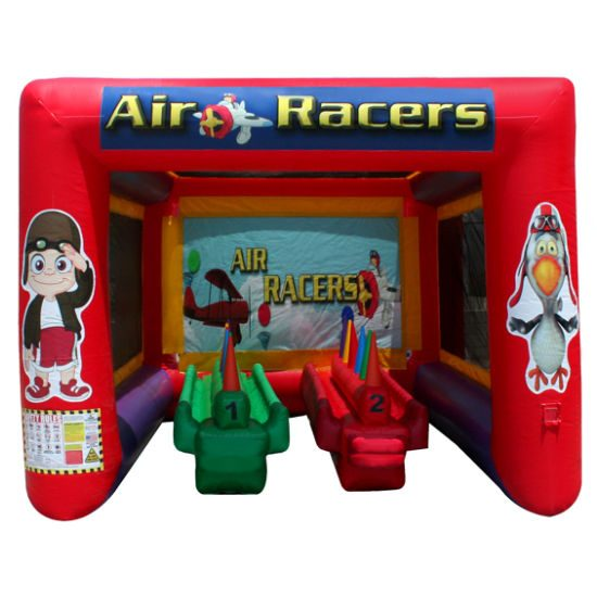 Air racer Interactive inflatable game bounce house moonwalk party rental michigan
