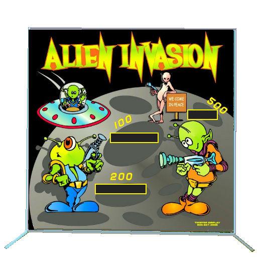 Alien Invasion Frame Carnival Game Rental Michigan