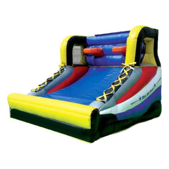 All star hoops basketball Interactive inflatable game bounce house moonwalk party rental michigan
