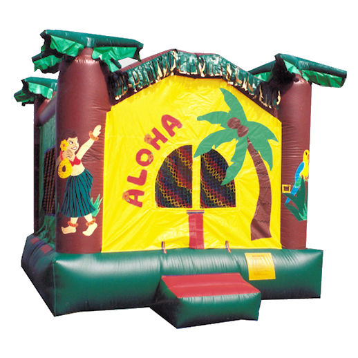 Aloha inflatable bounce house moonwalk jumper moonbounce party rental michigan