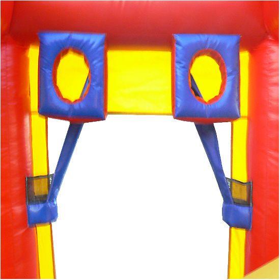 Arena Ball hoop Interactive inflatable bounce house moonwalk party rental michigan
