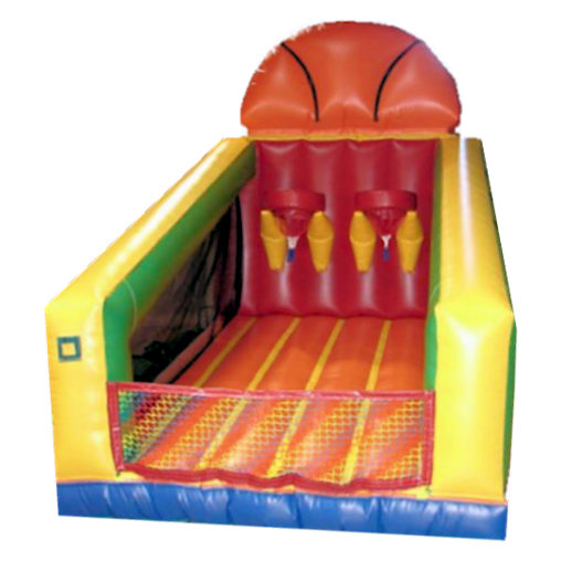Basketball Challenge Interactive Sports inflatable Bounce House Moonwalk party rental michigan