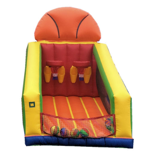 Basketball Challenge Sports Interactive inflatable Bounce House Moonwalk party rental michigan