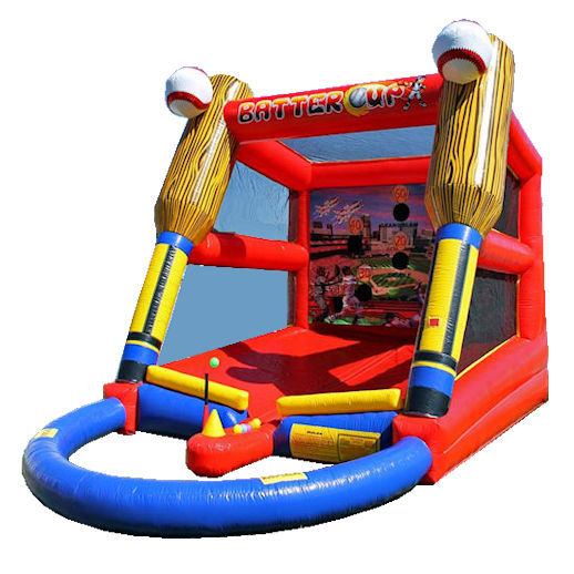 Batter Up Baseball t ball inflatable interactive sports game party rental michigan