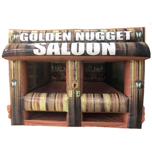 Bazooka Ball Golden Nugget Saloon Shooting Gallery Inflatable interactive carnival game rental michigan
