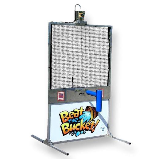 Beat the Bucket water dunk tank battle party rental michigan
