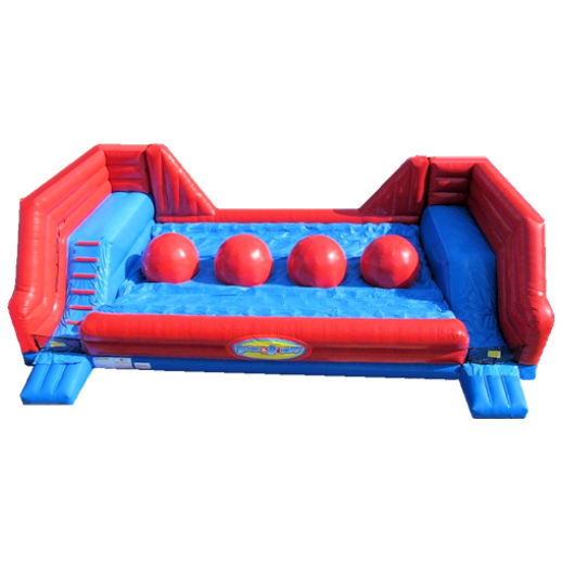 Big Red Balls Wipe Out Leaps Bounds inflatable interactive game rental michigan
