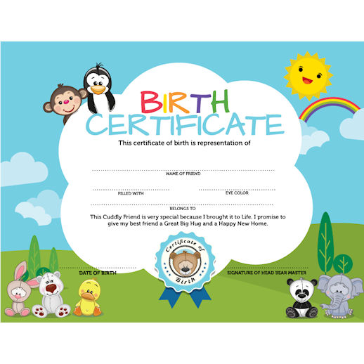 Birth Certificate build a bear factory michigan