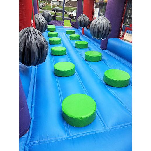 Boulderdash Interactive demolition ball inflatable bounce house moonwalk party rental michigan