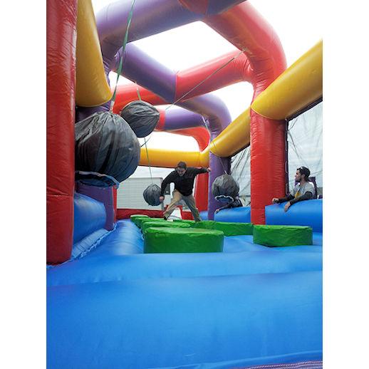 Boulderdash wrecking bal Interactive inflatable bounce house moonwalk party rental michigan