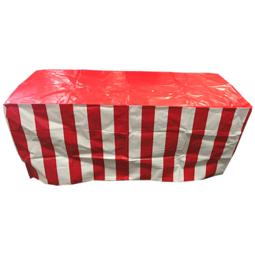 Carnival Stripe Table Cover party rental michigan