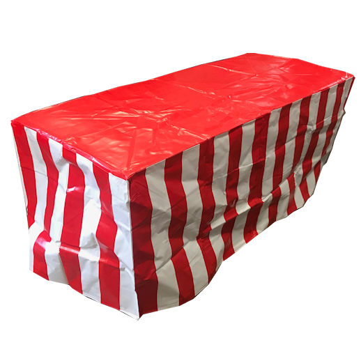 Carnival Striped Table Cover party rental michigan