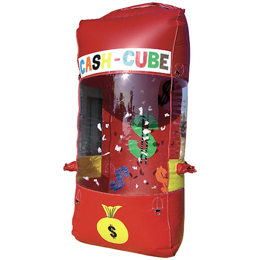Cash Cube money grab machine carnival game rental michigan