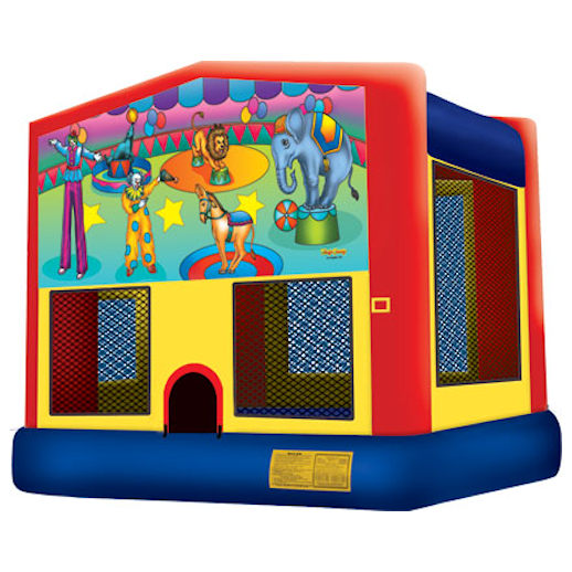 Circus inflatable bounce house moonwalk party rental michigan