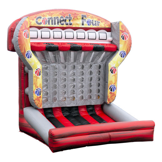 Connect Four Shoot and score inflatable interactive basketball game rental mi