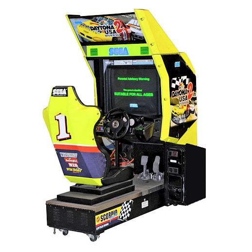 Daytona USA 2 arcade driver nascar Race car driving game rental michigan