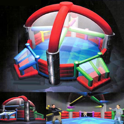 Defender Dome inflatable dodge ball interactive bounce house moonwalk party rental michigan
